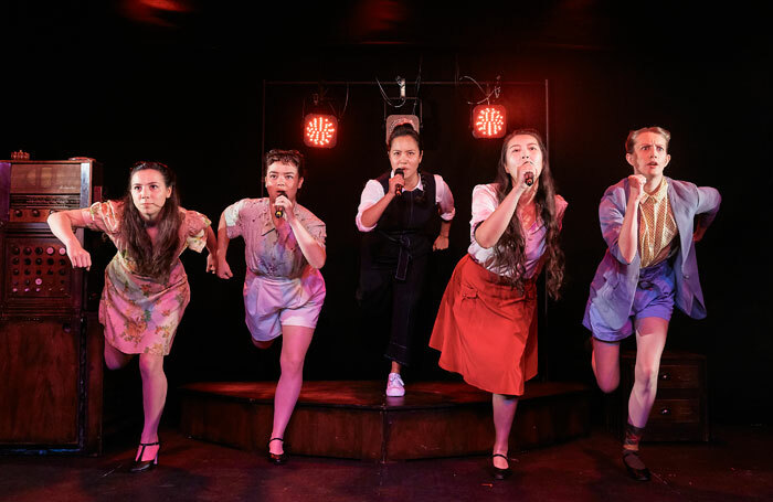 The cast of Tokyo Rose from Burnt Lemon Theatre at Underbelly Cowgate, Edinburgh