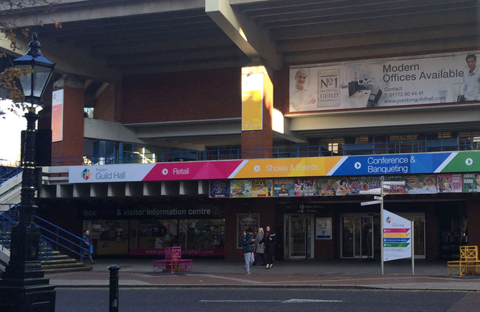 The exterior of Preston Guild Hall and Charter Theatre