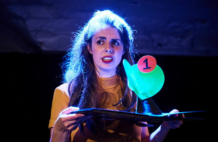 Hannah Moss in The Rebirth of Meadow Rain at the Pleasance Courtyard. Photo: Alex Brenner