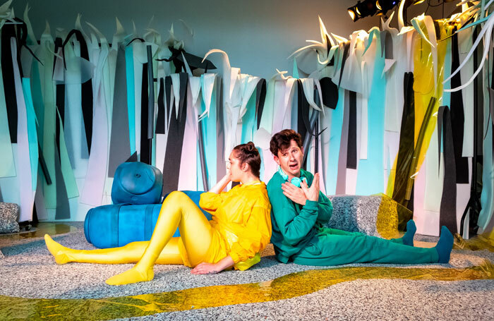 Lucy Bairstow and Finlay McGuigan in Slime at Pleasance Pop-up, Edinburgh. Photo: Jerome Whittingham