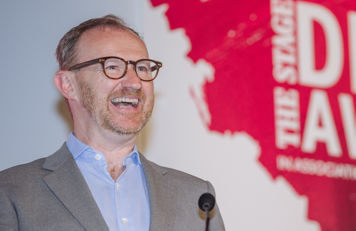 Mark Gatiss at The Stage Debut Awards. Photo: David Monteith-Hodge