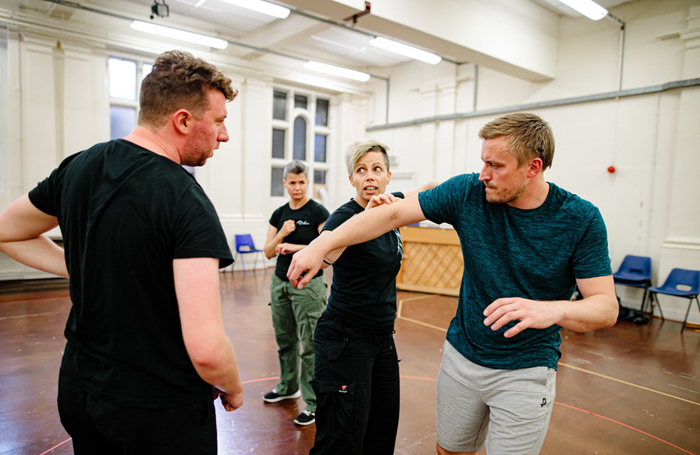 Rehearsals for the Royal Shakespeare Company's production of King John. Photo: Sam Allard