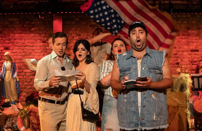The cast of Cabildo at the Arcola Theatre, London. Photo: Ali Wright