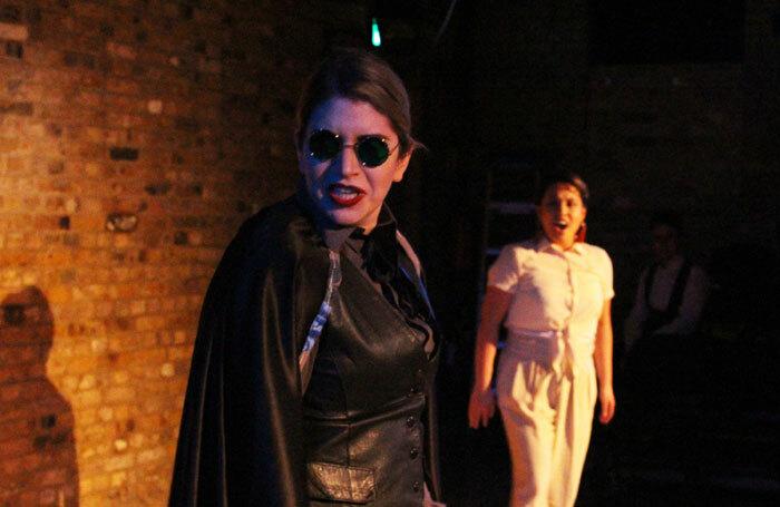 Arden Fitzroy and Renee Fajardo in Don Jo at Arcola Theatre, London. Photo: Hiranya Griffith-Unny
