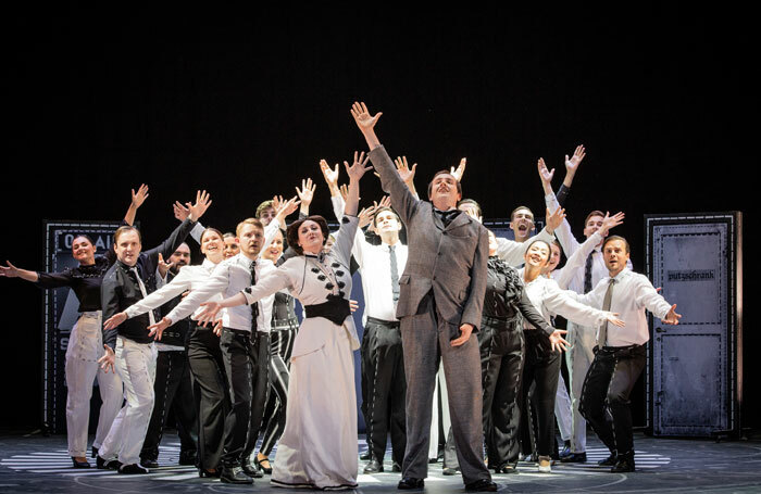 The cast of British Youth Opera's Scoring a Century. Photo: Robert Workman