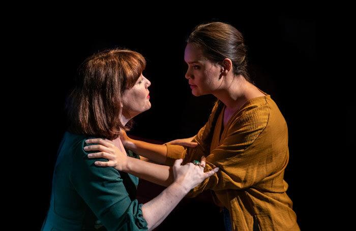 Caroline Faber and Acushla-Tara Kupe in Anahera at Finborough Theatre, London. Photo: Ali Wright