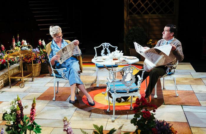 Caroline Harker and Tim McMullan in Relatively Speaking at Salisbury Playhouse. Photo: Helen Murray