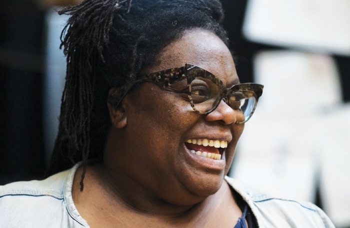 Cecilia Noble in rehearsals for Faith, Hope and Charity at the National Theatre. Photo: Sarah Lee