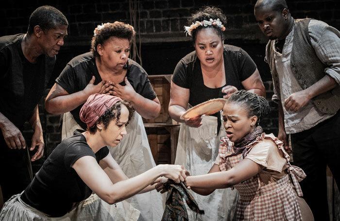 The cast of Treemonisha at Arcola Theatre, London. Photo: Robert Workman