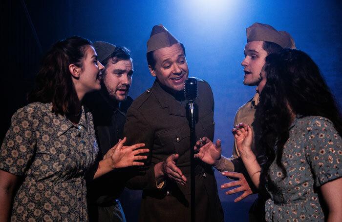 The cast of Hello Again at the Union Theatre, London. Photo: Mark Senior