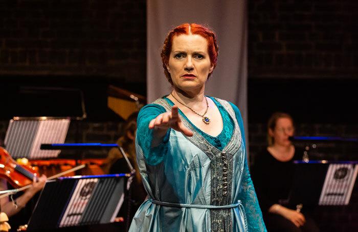 Joanna Roughton-Arnold in Hotspur/Pierrot Lunaire at Arcola Theatre, London