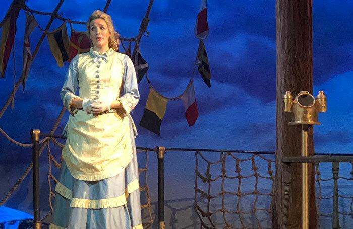 Georgina Stalbow in HMS Pinafore at Wilton's Music Hall, London