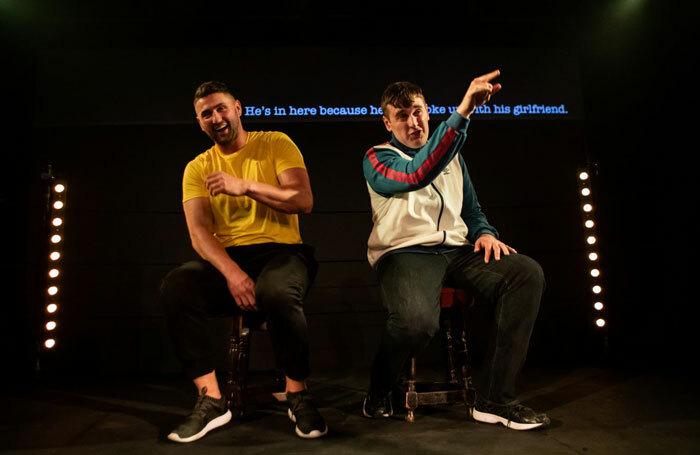 Barry Calvert and Brendan Quinn in Jade City at the Bunker, London. Photo: Ali Wright