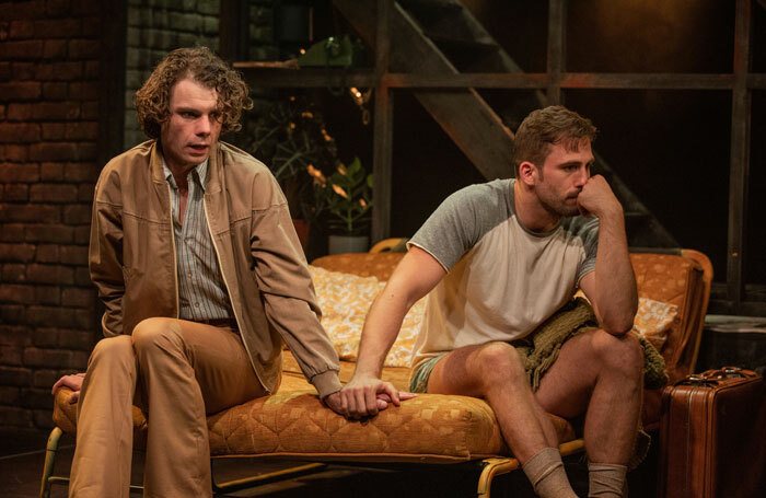 Matthew Needham and Dino Fetscher in Torch Song at the Turbine Theatre, London. Photo: Mark Senior