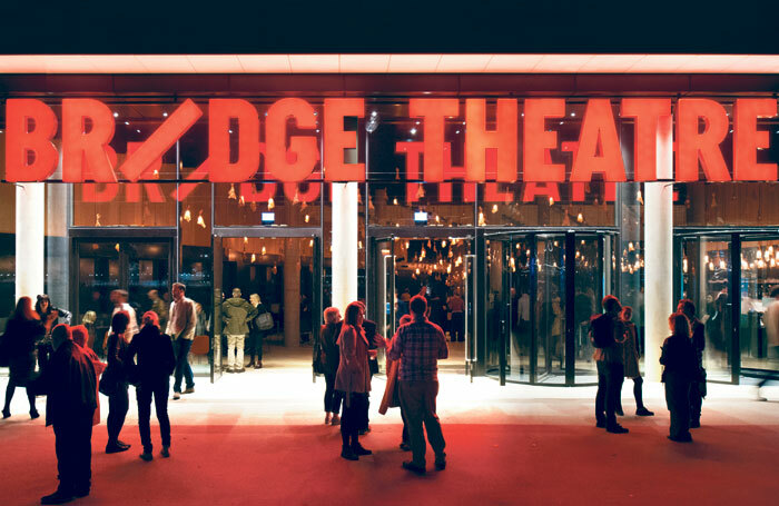 The Bridge Theatre entrance. Photo: Philip Vile