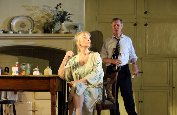 Lindsay Duncan and Alex Jennings in Hansard at National Theatre, London. Photo: Catherine Ashmore