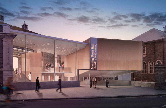 An artist's impression of the new Maesteg Town Hall