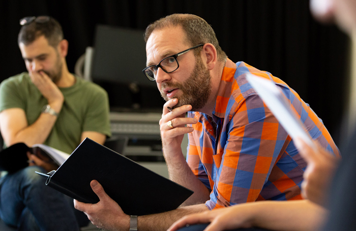 Director Adam Quayle in rehearsals for Under Three Moons. Photo: Decoy Media