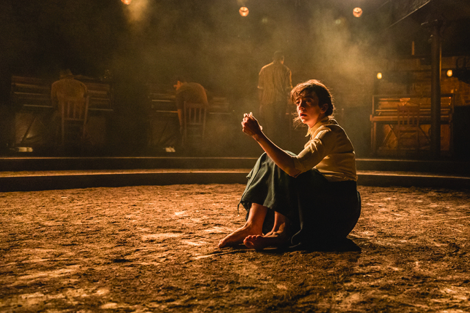Tom Scutt's design for Summer and Smoke at London's Almeida Theatre evoked the sultry setting of Tennessee Williams' play. Photo: Marc Brenner.