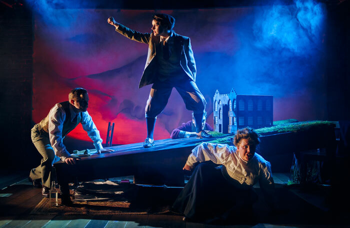 The cast of The Hound of the Baskervilles at Northern Stage. Photo: Topher McGrillis