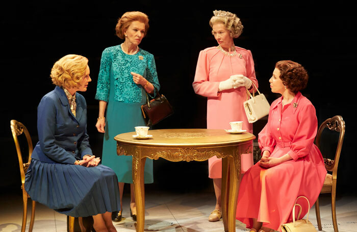 The cast of Handbagged at New Vic, Newcastle-under-Lyme. Photo: Mark Douet