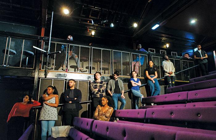 Participants in the Open Door scheme at the Pleasance Theatre. Photo: Helen Murray