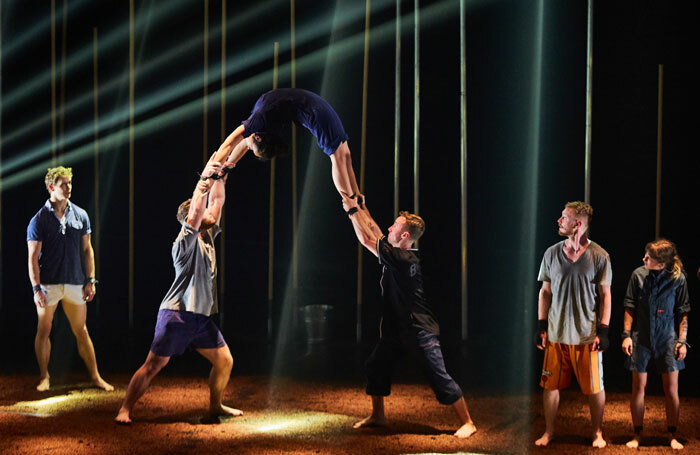 Gravity and Other Myths' Backbone at Underbelly, Edinburgh. Photo: Andrew Miller