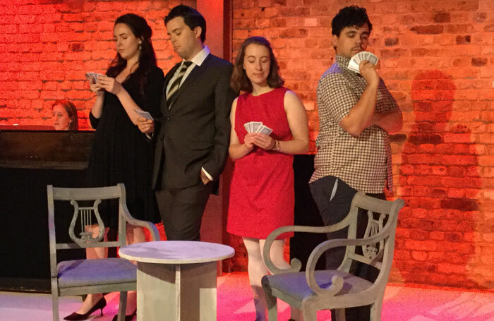 The cast of A Hand of Bridge at Arcola Theatre, London