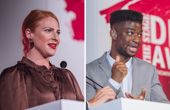 Rosalie Craig and Jamal Ajala at The Stage Debut Awards 2019. Photos: David Monteith-Hodge