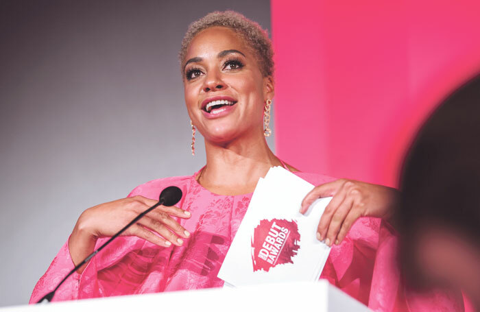 Cush Jumbo hosting The Stage Debut Awards earlier this year. Photo: David Monteith-Hodge