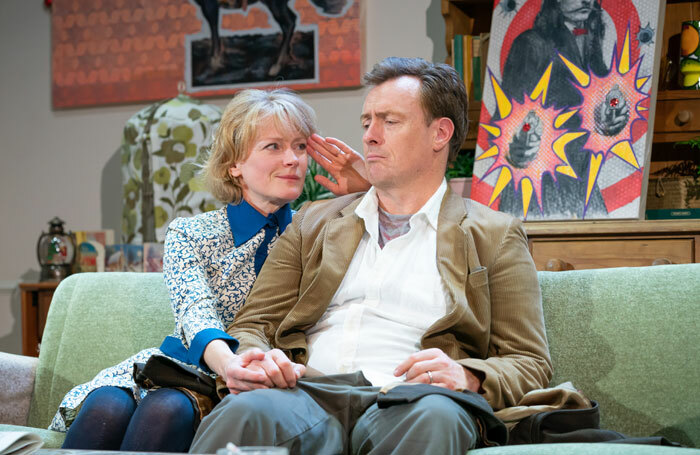 Claire Skinner and Toby Stephens in A Day in the Death of Joe Egg at Trafalgar Studios. Photo: Marc Brenner