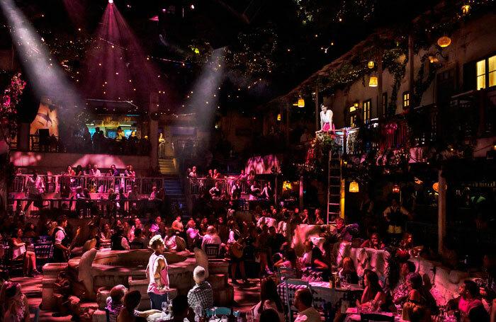 AJ Bentley and Julia Imbach in Mamma Mia! The Party. Photo: Helen Maybanks