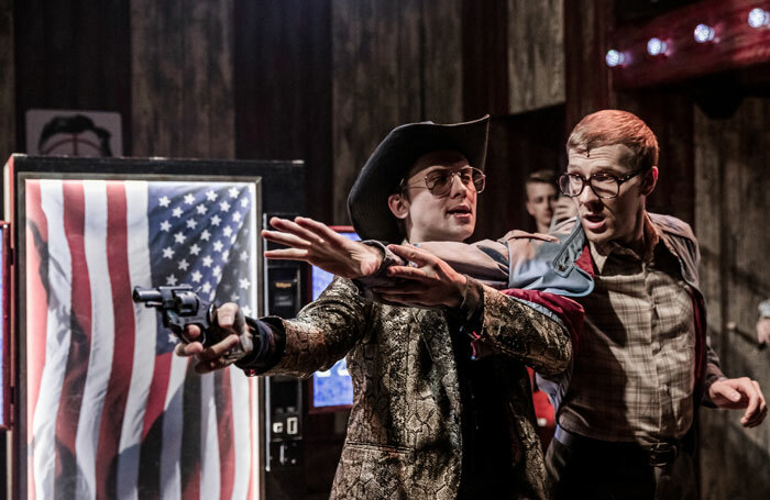 Joey Hickman and Jack Quarton in Assassins at the Watermill Theatre. Photo: Other Richard