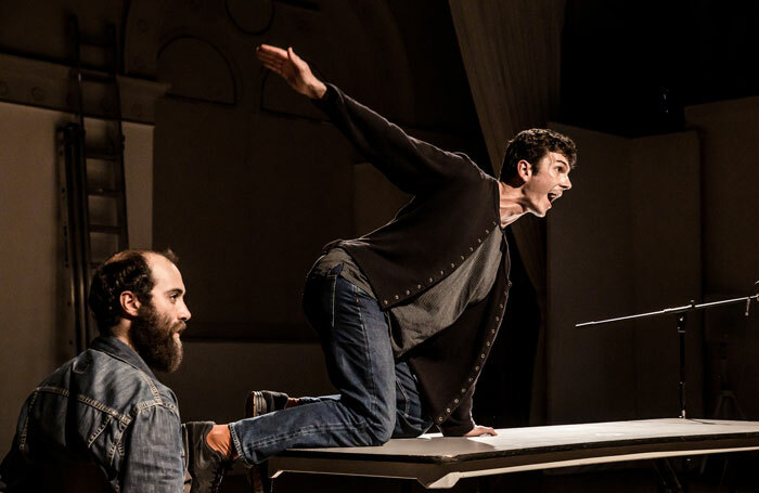 Nasi Voutsas and Bertrand Lesca in One at Battersea Arts Centre, London. Photo: The Other Richard