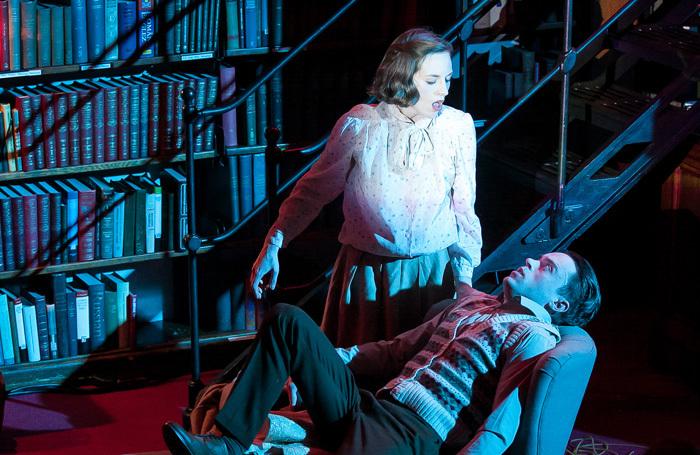 Sophie Greenham and Bart Lambert in Dracula at the London Library. Photo: Richard Budd