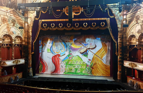 ENO unveils new safety curtain in honour of Jonathan Miller