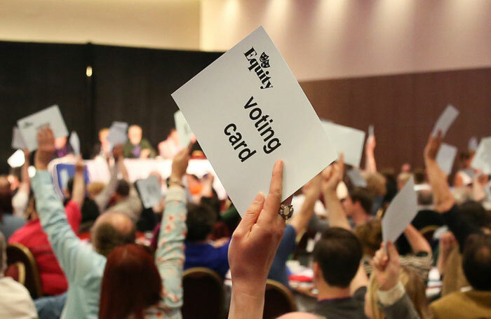 Equity members voting at the union's Annual Representative Conference. Photo: Phil Adams