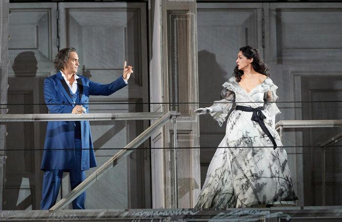 Erwin Scrott and Myrto Papatanasiu at Don Giovanni at the Royal Opera House. Photo: Mark Douet