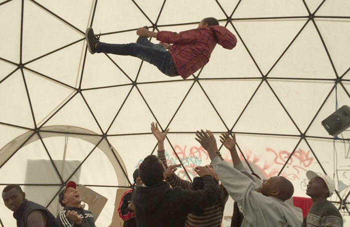 The Dome – the theatre that sprung up in the Calais refugee camp. Photo: Good Chance Theatre
