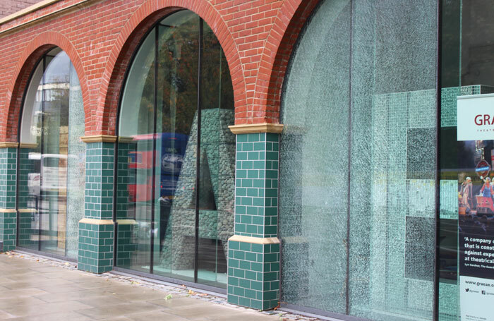 Vandals shattered the glass frontage of Graeae's London headquarters (left), leaving thousands of pounds' worth of damage
