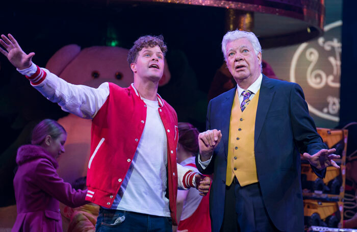 Jay McGuiness and Matthew Kelly in Big the Musical at Dominion Theatre, London. Photo: Alastair Muir