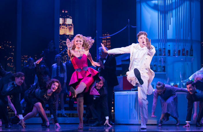 Kimberley Walsh, Jay McGuiness  and the cast of Big the Musical at the Dominion Theatre, London. Photo: Alastair Muir