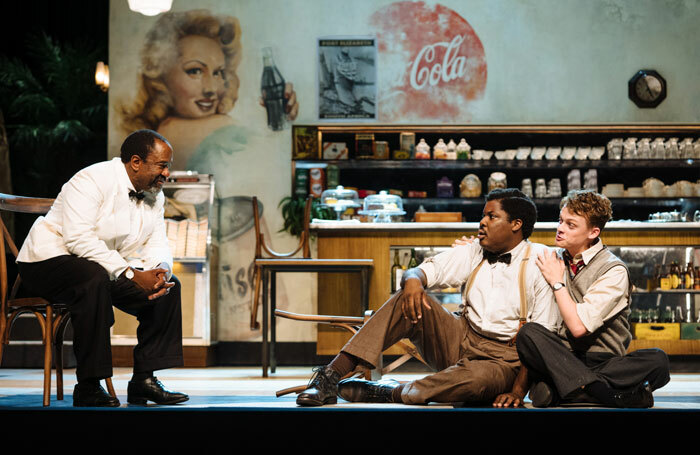 Lucian Msamati, Hammed Animashaun and Anson Boon in 'Master Harold'...and the Boys at National Theatre, London. Photo: Helen Murray