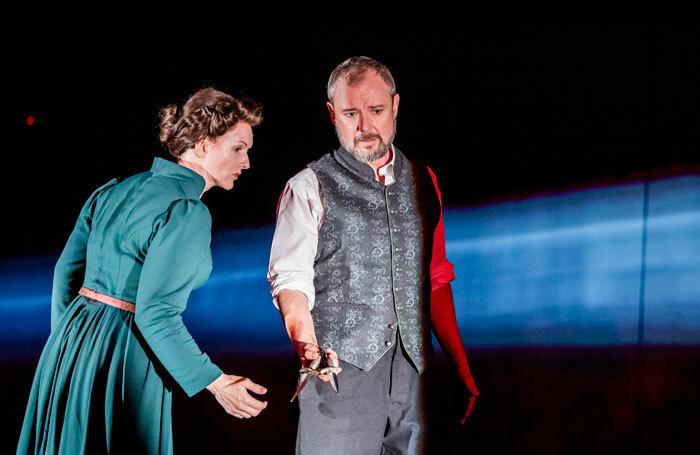 John Simm and Dervla Kirwan in Macbeth at Chichester Festival Theatre. Photo: Tristram Kenton