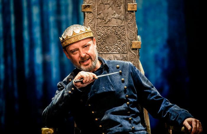 John Simm in Macbeth at Chichester Festival Theatre. Photo:  Tristram Kenton