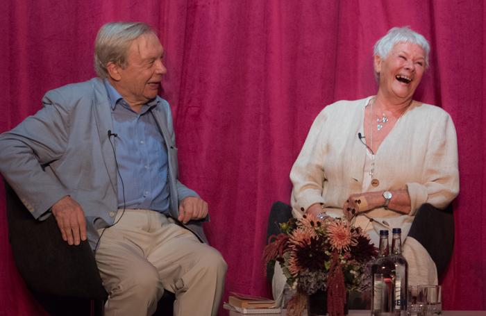 Michael Billington and Judi Dench. Photo: Craig Sugden