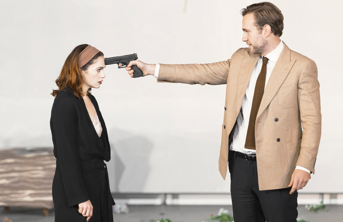Ruth Wilson and Rafe Spall in Ivo van Hove's Hedda Gabler. Photo: Sinead Matthews