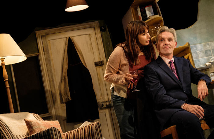 Rosie Wyatt and Louis Dempsey in Skylight at the Theatre, Chipping Norton. Photo: Josh Tomalin