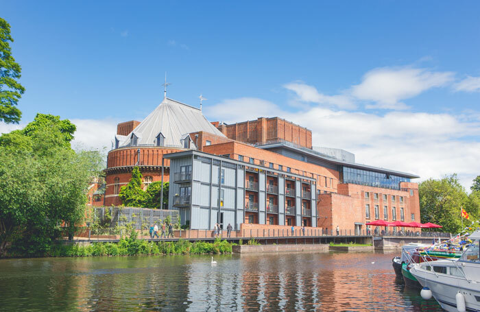 Royal Shakespeare Theatre and Swan Theatre viewed from the River Avon. Photo: RSC/Sam Allard