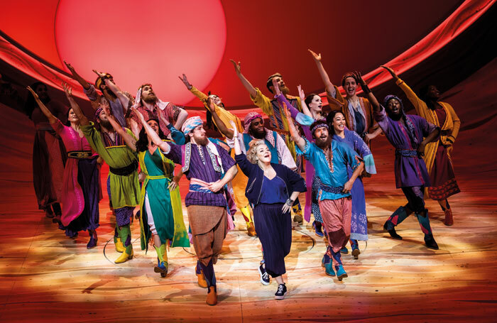 Sheridan Smith and the company of Joseph and the Amazing Technicolor Dreamcoat at London Palladium. Photo: Tristram Kenton
